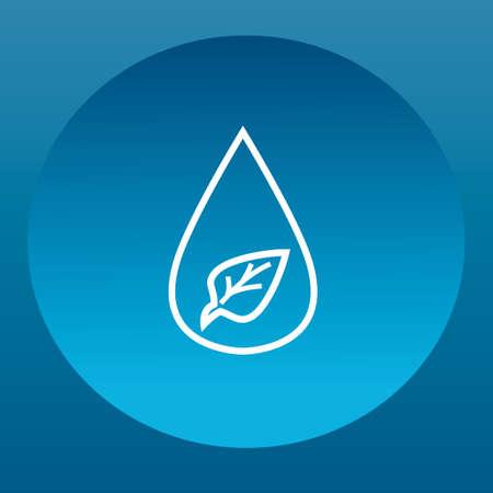 leaf water drop: Water drop with leaf