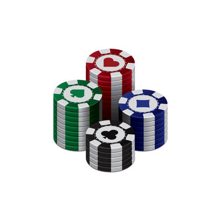 poker chips: Three dimensional poker chips