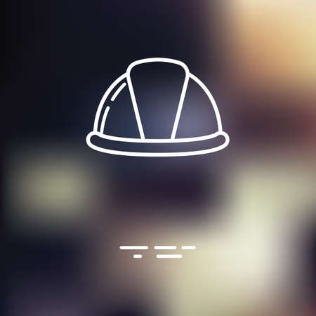 hard: Hard hat icon Illustration