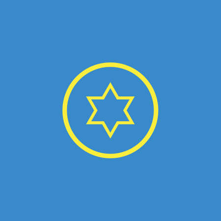 screw: Star nut screw icon Illustration