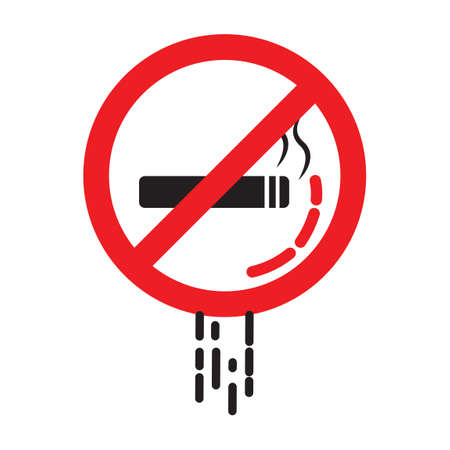 prohibitive: No smoking sign