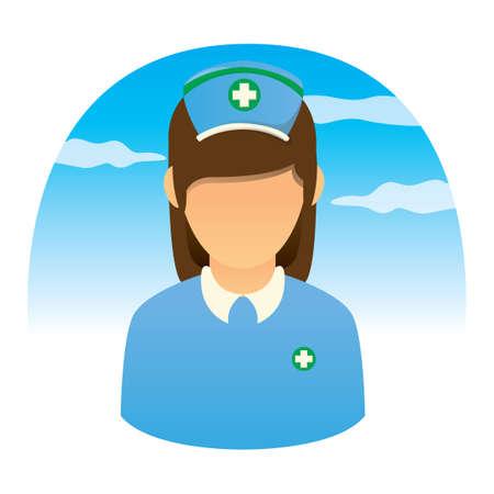 medical headwear: Female nurse