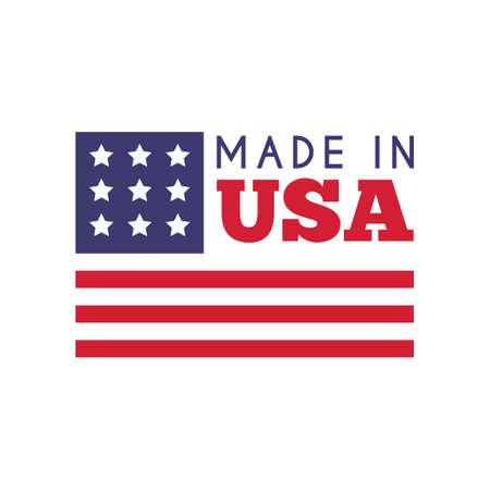 em: Made in USA label design