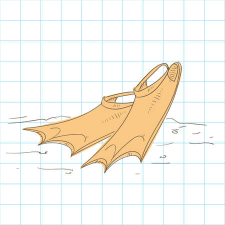 flippers: Diving flippers Illustration