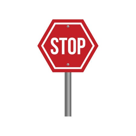 motorists: Stop sign Illustration