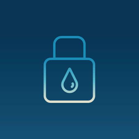 ahorrar agua: Excepto concepto del agua Vectores