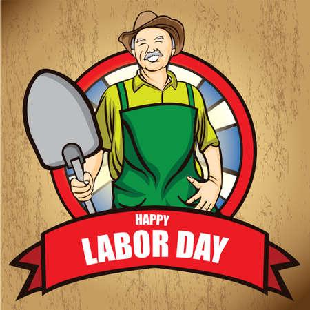 oldman: Happy labor day poster