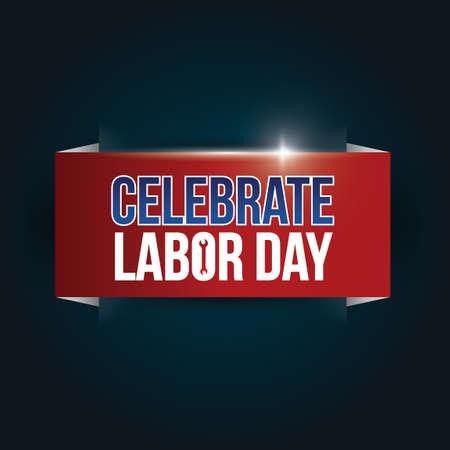 祝う: Celebrate labor day banner