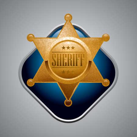 hvězda: Šerif hvězda odznak Ilustrace