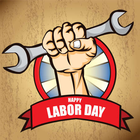 Happy labor day poster Stock Vector - 43246102