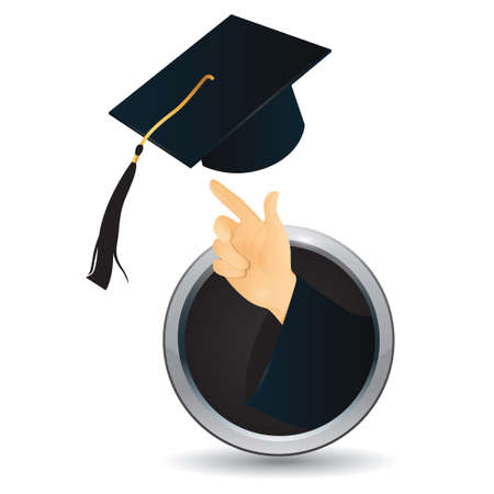tassel: Hand tossing graduation cap