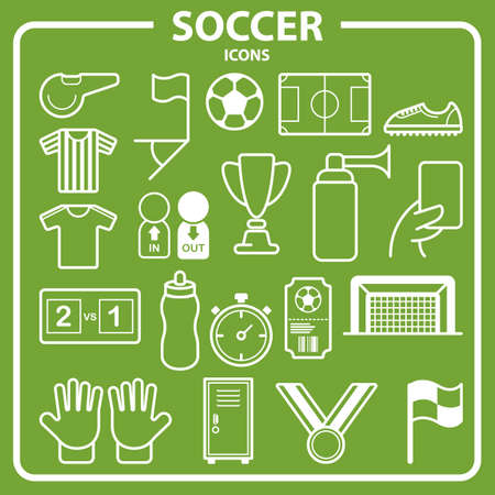 basic scheme: Collection of soccer icons