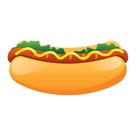 the hot: Hot dog Illustration