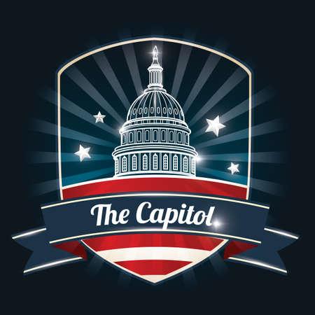 building: US capitol building poster
