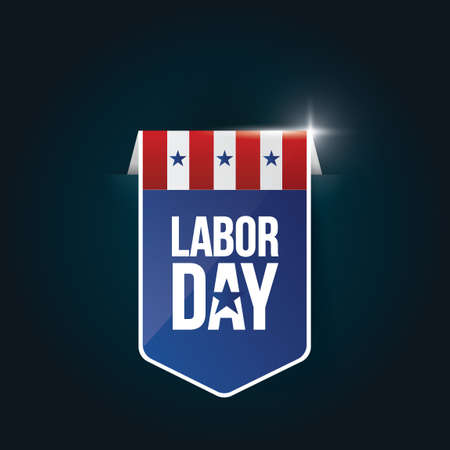 Labor day banner Ilustrace