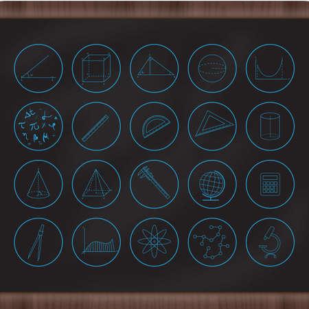acute angle: Conjunto de iconos de educaci�n Vectores