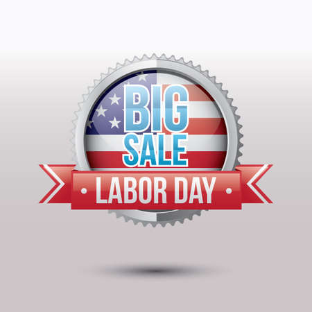 Labor day sale label Illustration