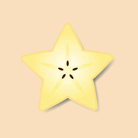 sliced: Sliced star fruit Illustration