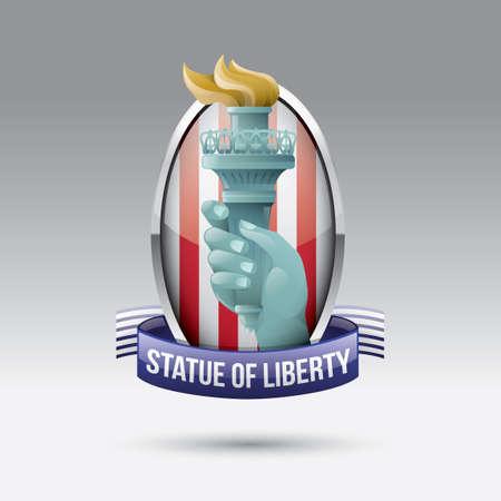 liberty: Statue of liberty label