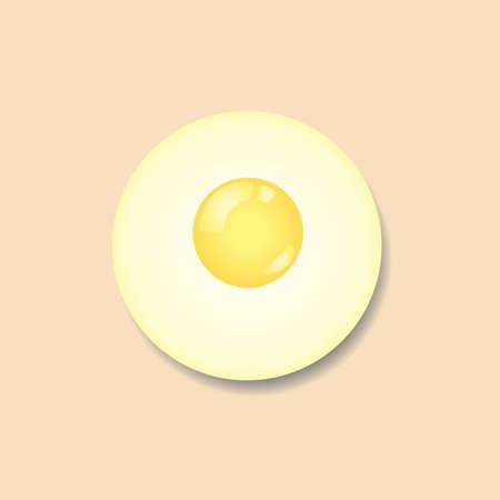sunny side up eggs: Sunny side up egg Illustration