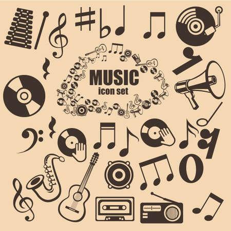 semiquaver: Collezione di strumenti musicali Vettoriali