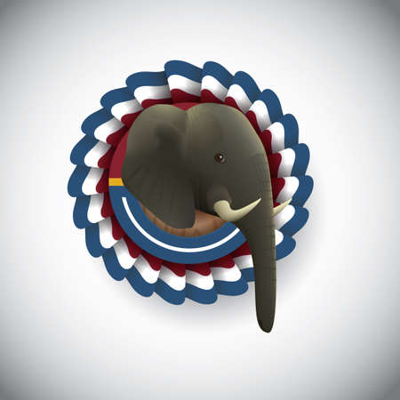 republican party: Republican party symbol Illustration
