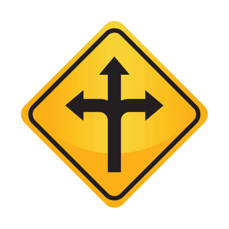 auxiliary: Left, right or straight arrow auxiliary sign