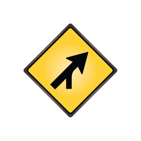 merging: Merging traffic sign Illustration