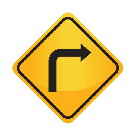 turn: Turn right sign