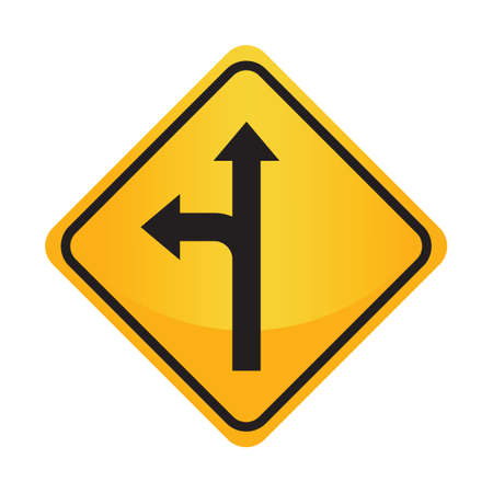 motorists: Left or straight arrow auxiliary sign