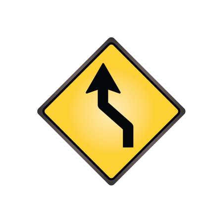 reverse: Left reverse curve sign