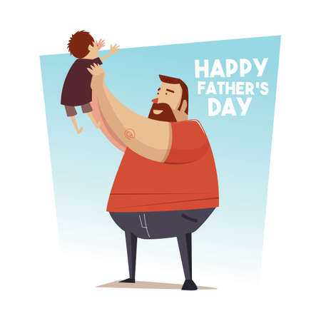 Fathers day greeting card Иллюстрация