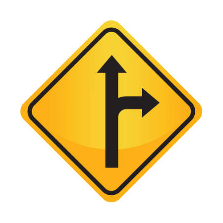 motorists: Right or straight arrow auxiliary sign Illustration