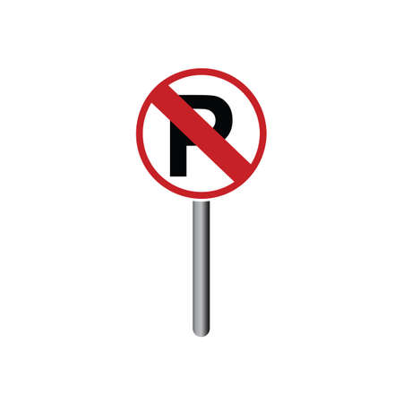 prohibitive: No parking sign Illustration
