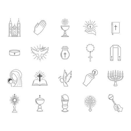 Sammlung von christlichen Symbolen