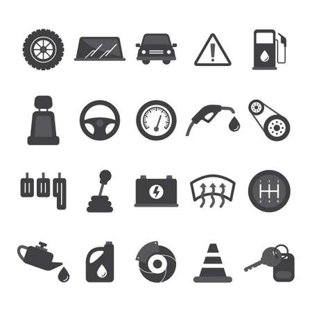 accelerator: Set of car icons