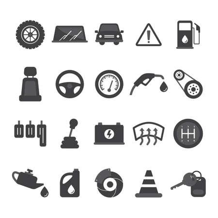 disk break: Set of car icons