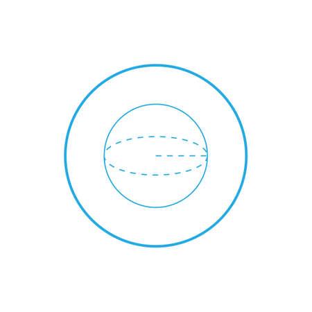 radius: Circle construction Illustration