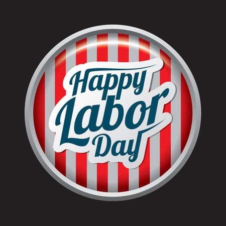 幸せな労働者の日ラベル  イラスト・ベクター素材