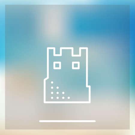 sand castle: Sand castle icon Illustration