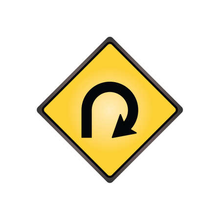 bucle: Signo de bucle de 270 grados Vectores