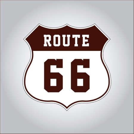 66: US route 66 Illustration
