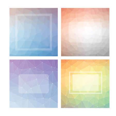 faceted: Collection of faceted backgrounds Illustration