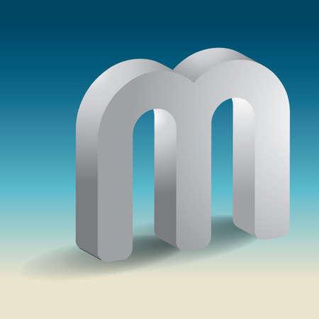 m: Alphabet M Illustration