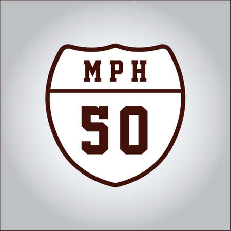 mph: Speed limit 50 sign Illustration