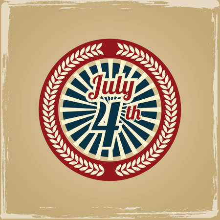july 4th: July 4th independence day label