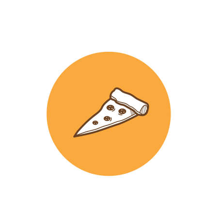 basic food: Pizza slice