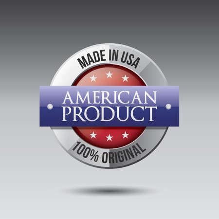 American product label Illustration