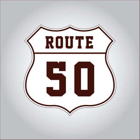 50: US route 50 Illustration