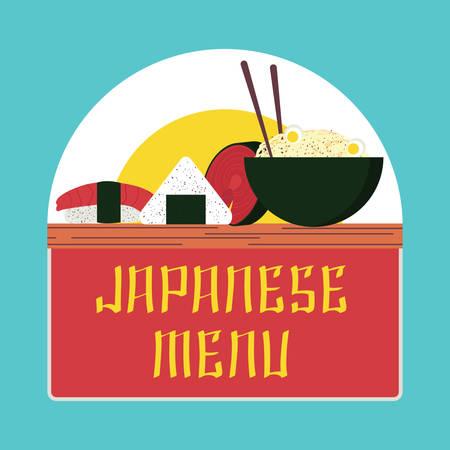 Japanse menu